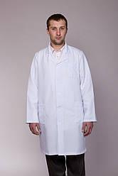 Мужской медицинский халат с длинными рукавами и отложным воротником