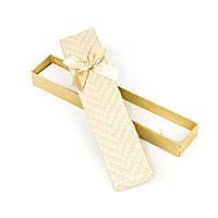 Подарочная коробочка под браслет бежевая 21 x 4,5 x 2,2 см