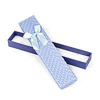 Подарочная коробочка под браслет голубая 21 x 4,5 x 2,2 см