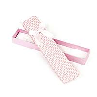 Подарочная коробочка под браслет розовая 21 x 4,5 x 2,2 см
