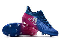 Футбольные бутсы adidas X 16 FG Blue/White/Shock Pink, фото 1