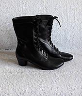 Ботиночки народные чёрные на шнурках