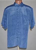 Рубашка шелковая от Cristian Dior (XL) 100% натуральный шелк. б\у