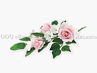 Букет из мастики - Букет роз РОЗОВЫЙ №13