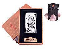 """Спиральная USB зажигалка """"Тигр"""" №4816-5, включение голосом, встряхиванием, стильный гаджет, подарочная коробка"""