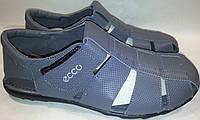 Сандалии мужские кожаные р40-45 ECCO 001 серые