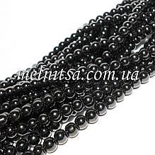 Жемчуг керамический, 6 мм, черный (20 шт)