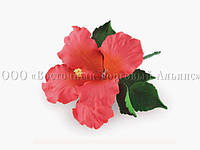 Букет из мастики - Цветок гибискуса КРАСНЫЙ - Ø120 мм