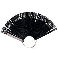 Веер на кольце - черный  (50 типс)