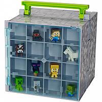 Кейс для хранения фигурок Майнкрафт+ 10 мини фигурок, Minecraft Mini-Figure Collector Case