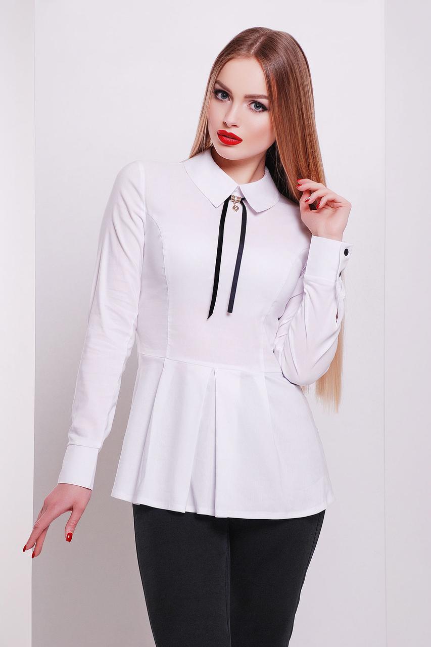 Женская белая деловая блуза