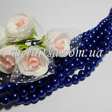 Перли керамічний, 6 мм, синій (20 шт)