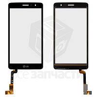 Сенсорный экран для мобильных телефонов LG X160 Max, черный