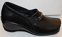 Туфли женские кожаные на платформе, кожаные туфли женские от производителя модель ВЛ65