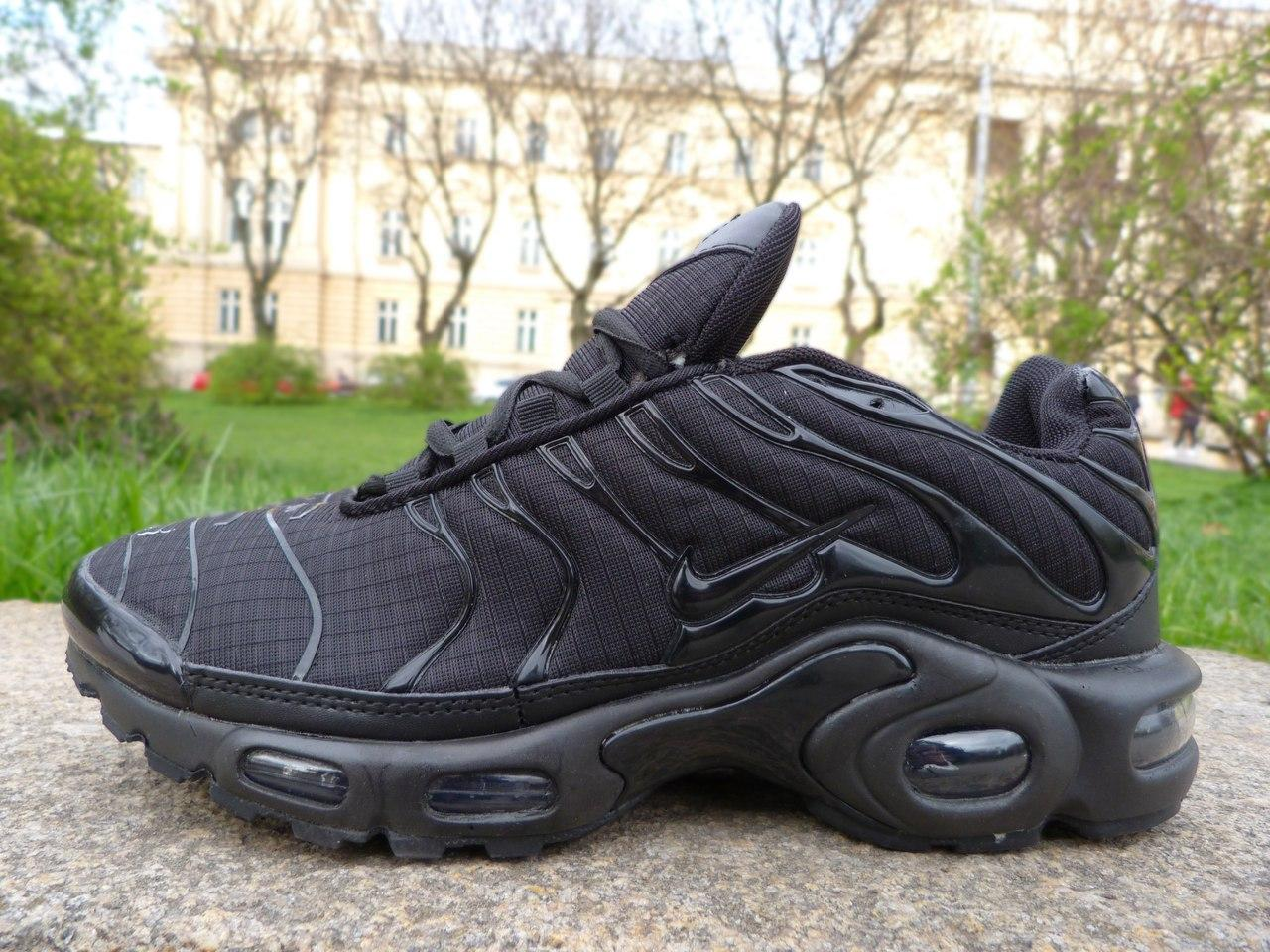 Мужские кроссовки Nike Air Max TN+ Full Black топ реплика