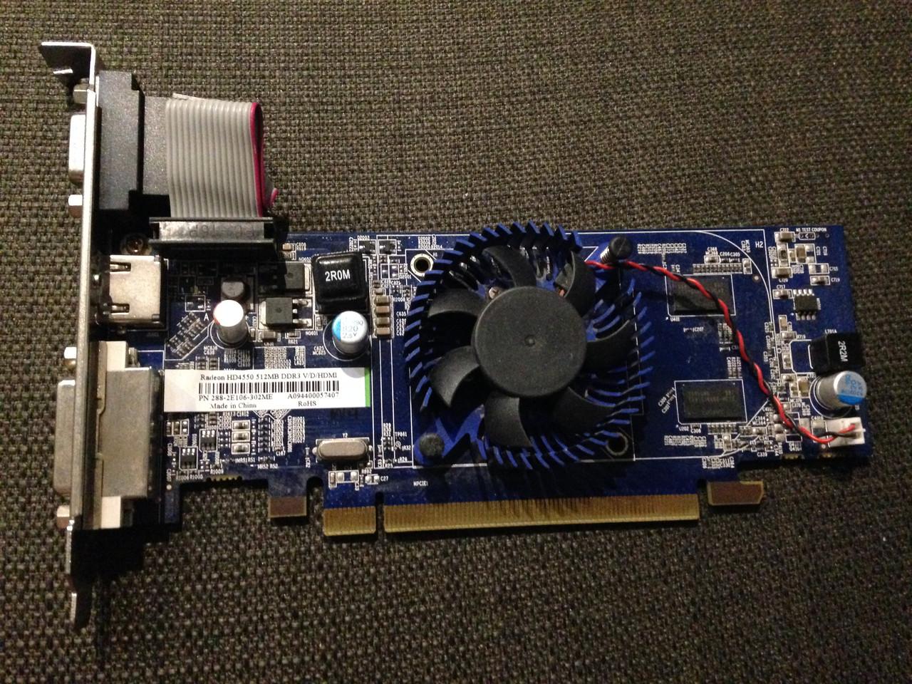 ВИДЕОКАРТА Pci-E RADEON 4550 c HDMI на 512 MB ГАРАНТИЕЙ ( видеоадаптер 4550 512mb  )