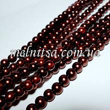 Перли керамічний, 6 мм, коричневий (20 шт)