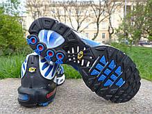 Мужские кроссовки Nike Air Max TN+ Blue\White\Black топ реплика, фото 2