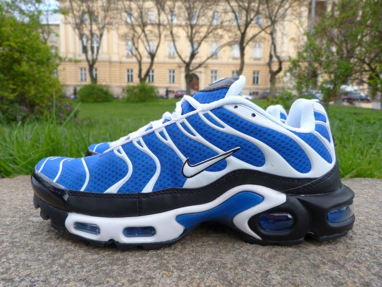 Мужские кроссовки Nike Air Max TN+ Blue\White\Black топ реплика