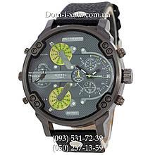 Мужские часы Diesel Brave black, кварцевые, элитные часы Дизель Брейв, кожаный ремешек, реплика, отличное качество!