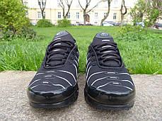 Кроссовки мужские Nike Air Max TN+ Black\White топ реплика, фото 3