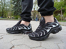 Кроссовки мужские Nike Air Max TN+ Black\White топ реплика, фото 2