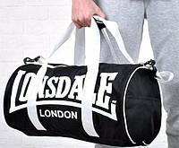 Мужская спортивная сумка LONSDALE черная., фото 1