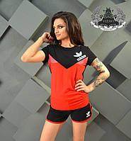 Летний женский спортивный костюм с шортами