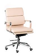 Кресло офисное кожанное Solano 3 artleather бежевое, фото 1