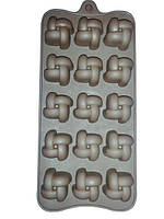 Силиконовая форма 7152 для 15 конфет или льда 20х12х2см