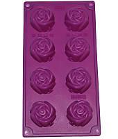 """Форма силиконовая для выпечки """"Бутон розы"""" Ø5см планшет 8 ячеек"""