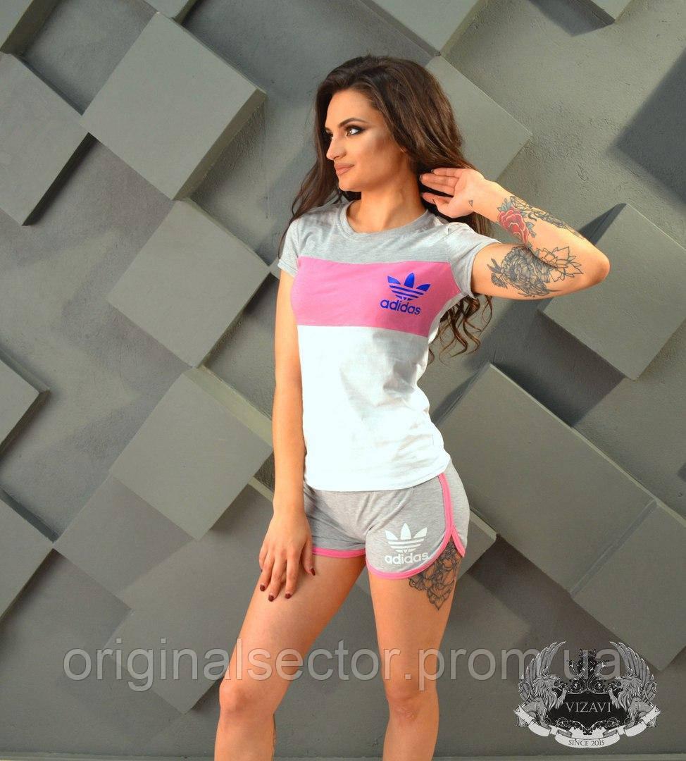 4a88fe437bfa Летний женский спортивный костюм с шортами Adidas - интернет-магазин