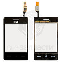 Сенсорный экран для мобильных телефонов LG T375, черный