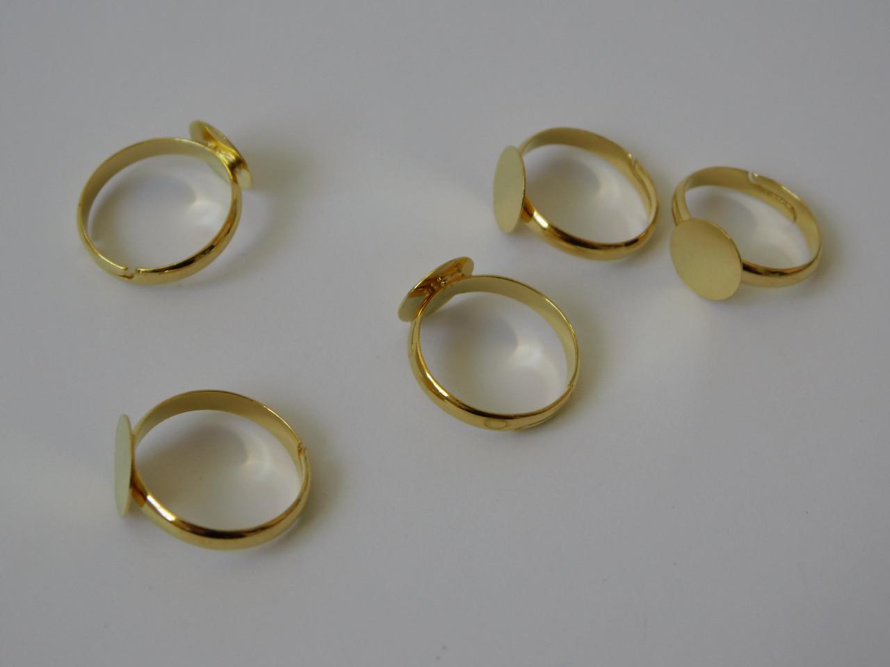 Перстень 10 мм. Золото