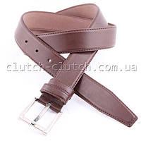 Ремень для брюк LMi 35 мм эко кожа коричневый со строчкой