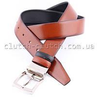 Ремень для брюк LMi 35 мм эко кожа двусторонний черно-коричневый