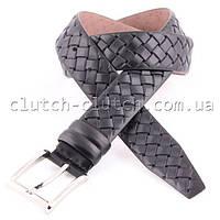 Брючной ремень LMi 35 мм черный плетеный