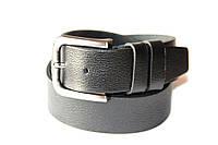 Ремень для джинсов LMi 35 мм черный с тиснением