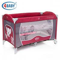 Детский манеж-кровать 4baby Vegas 2 уровня (Red)