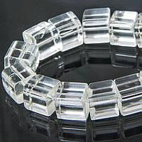 Бусины стеклянные, Кубики прозрачные, Цвет: Бесцветный, Размер: 11~12x11~12x11~12мм, Отверстие 2мм, (УТ100006609)