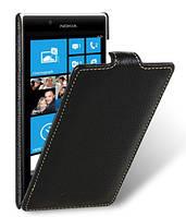 Кожаный чехол Melkco для Nokia Lumia 720 черный, фото 1