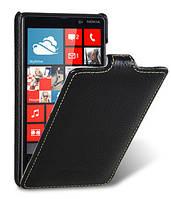 Кожаный чехол Melkco для Nokia Lumia 820 черный, фото 1