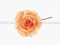 Квіти з мастики - Роза велика помаранчева №3 - Ø65 мм