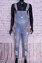 Жіночий джинсовий комбінезон Hit me up (код )