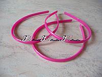 Заготовка для обруча пластиковая розовая ширина 0,8 см