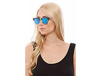 Молодежные солнцезащитные очки Ray Ban Clubmaster. Зеркальные очки. Высокое качество. Купить. Код: КДН1669