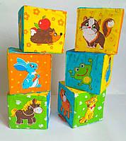 Развивающие мягкие кубики для малышей, поштучно (цена за 1 шт.)