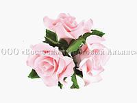 Букет из мастики - Букет роз РОЗОВАЯ большой №2 - Ø160 мм