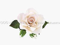 Букет из мастики - Роза с бутонами БЕЛАЯ d-120