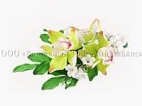 Букет из мастики - Орхидеи САЛАТНЫЕ №17